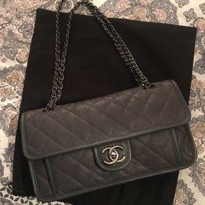 Chanel Gray Cavier French Rivera Flap Bag